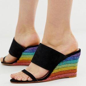 NWB 🌈 Free People wedge sandal